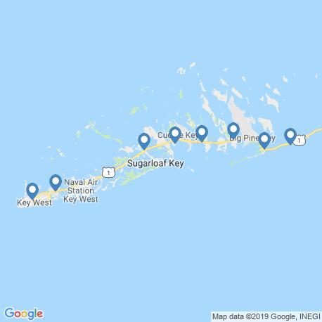 Karte der Angebote in Key West