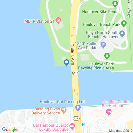 map of fishing charters in Bal Harbour