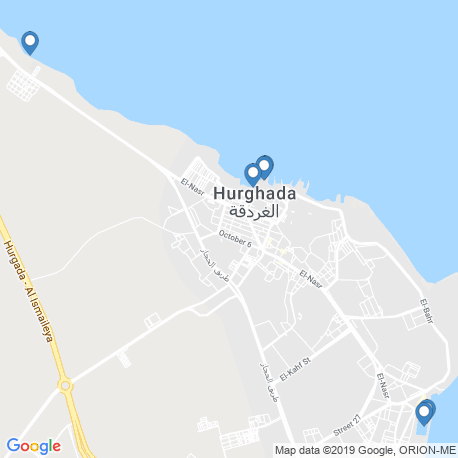 map of fishing charters in Egypt