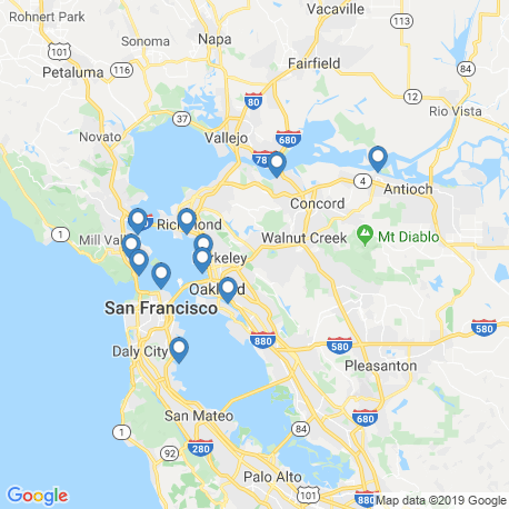 map of fishing charters in San Francisco