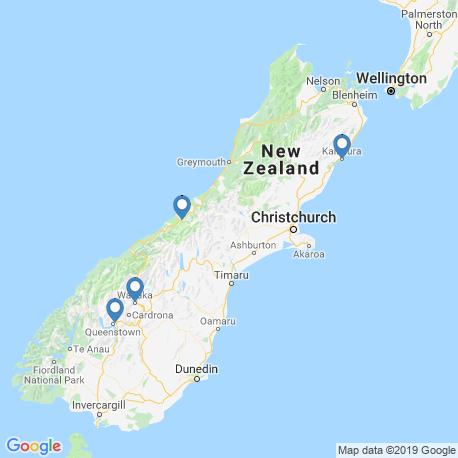 Карта рыбалки – Южный (остров, Новая Зеландия)