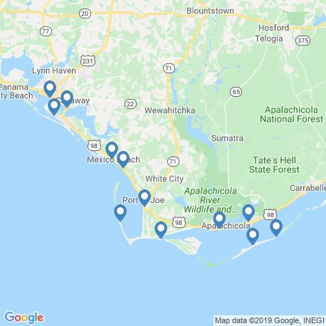 Karte der Angebote in Yankeetown