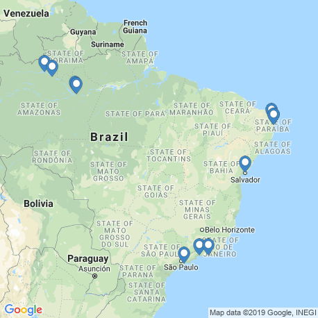 map of fishing charters in Brazil