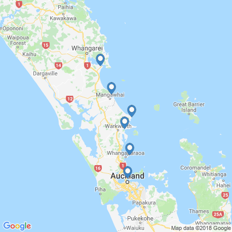 map of fishing charters in Leigh