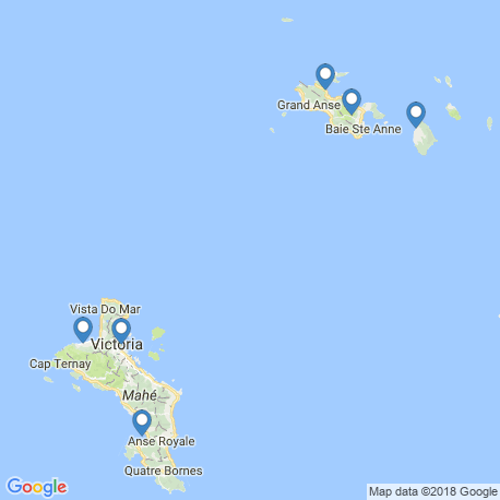 map of fishing charters in Praslin