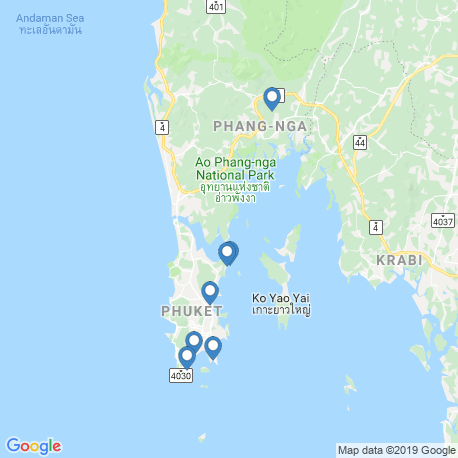 map of fishing charters in Phuket