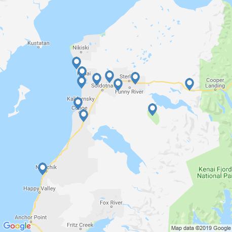 map of fishing charters in Kenai