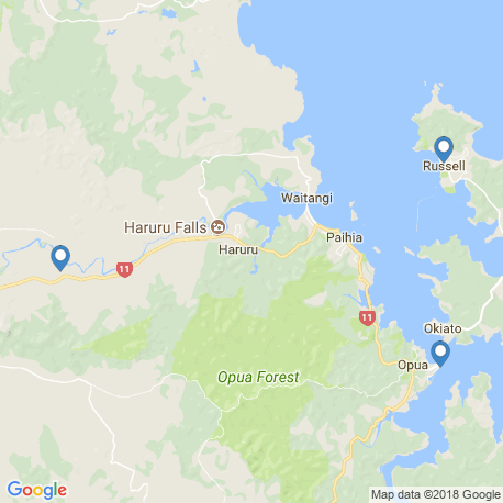 map of fishing charters in Bay Of Islands