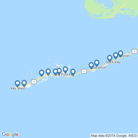 map of fishing charters in Big Pine Key