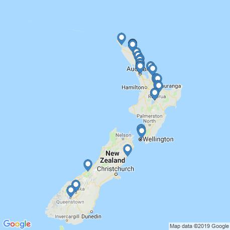 Карта рыбалки – Новая Зеландия