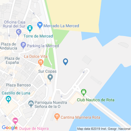 map of fishing charters in Rota