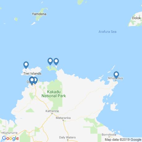 Карта рыбалки – Северная территория