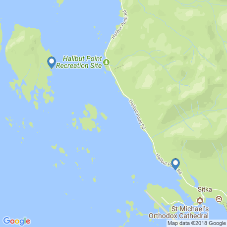 map of fishing charters in Sitka