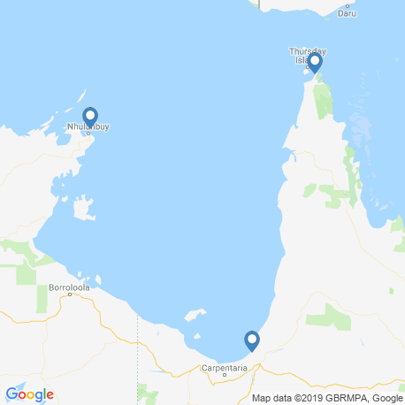 map of fishing charters in Gulf of Carpentaria
