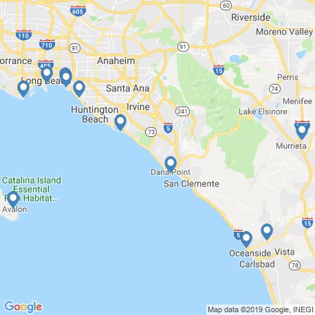 Карта рыбалки – Дана Пойнт