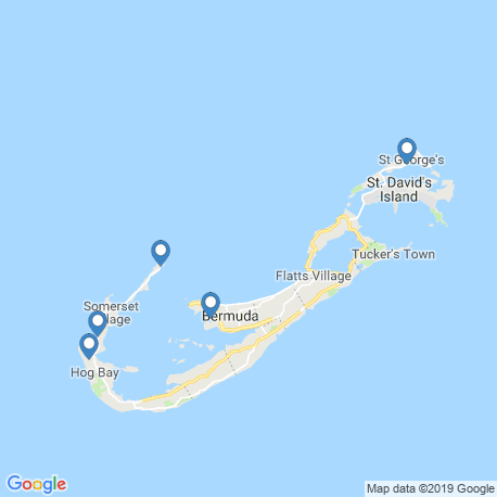 map of fishing charters in Bermuda