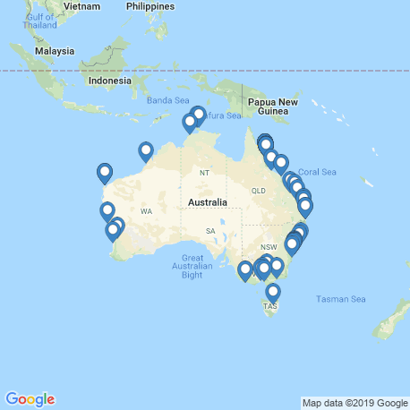 Карта рыбалки – Австралия