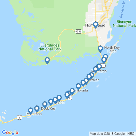 map of fishing charters in Islamorada