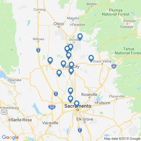 Карта рыбалки – Юба-Сити