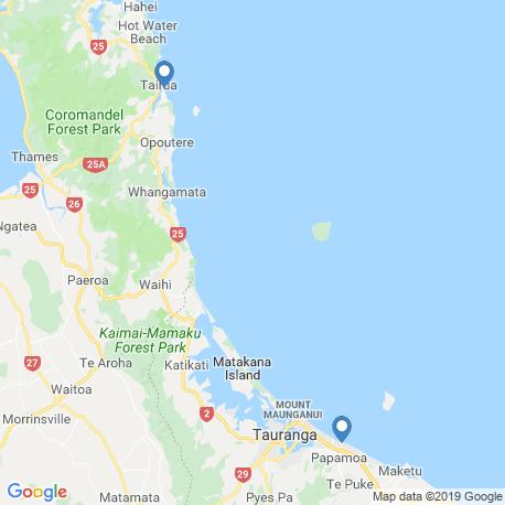 Карта рыбалки – Бей-оф-Пленти