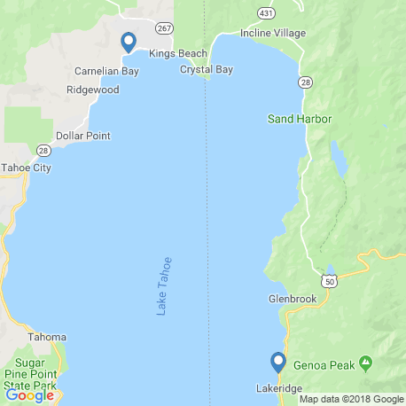 map of fishing charters in Glenbrook