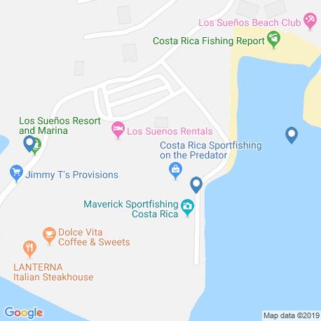 Карта рыбалки – Пунтаренас