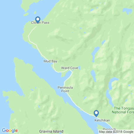 map of fishing charters in Ketchikan