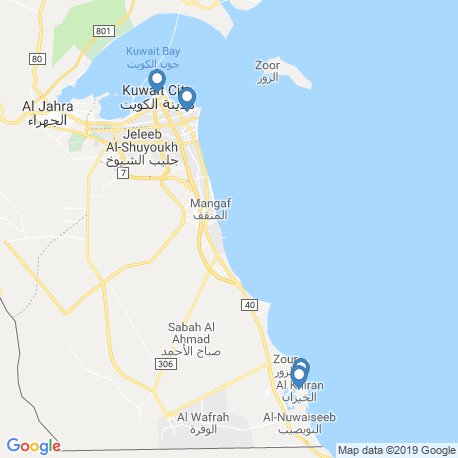 map of fishing charters in Kuwait