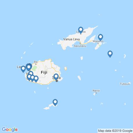 map of fishing charters in Fiji