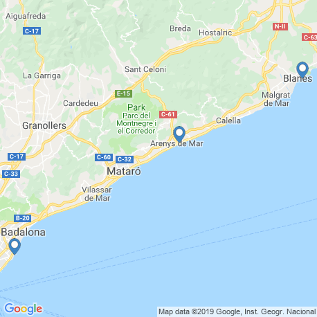 map of fishing charters in Barcelona