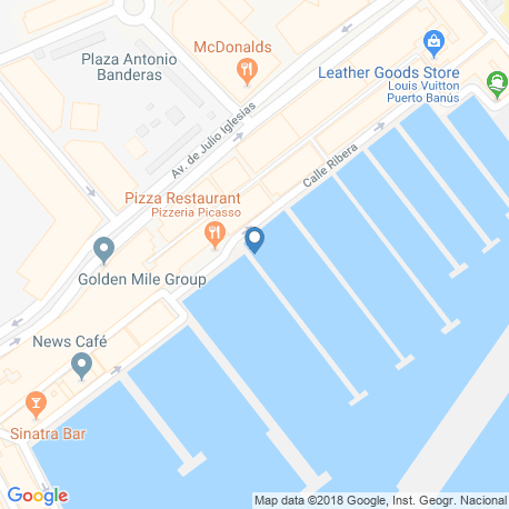 map of fishing charters in Marbella