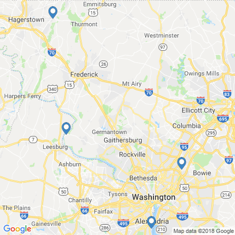 map of fishing charters in Dickerson