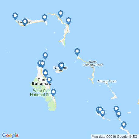 Карта рыбалки – Багамские острова