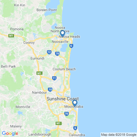 map of fishing charters in Mooloolaba