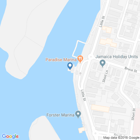 map of fishing charters in Forster