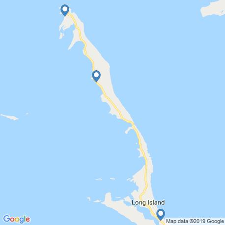 map of fishing charters in Long Island