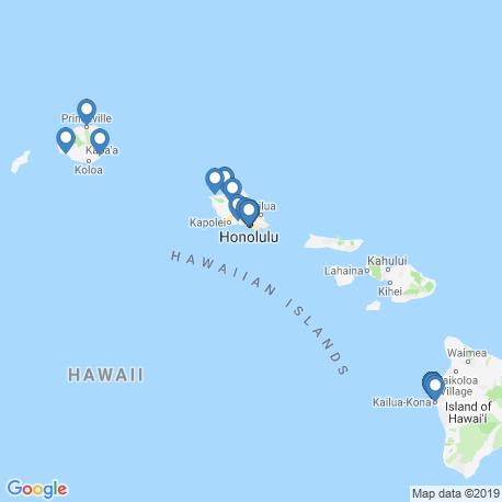map of fishing charters in Hawaii