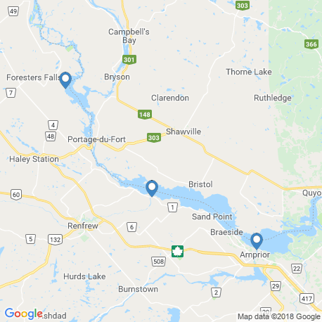map of fishing charters in Cobden