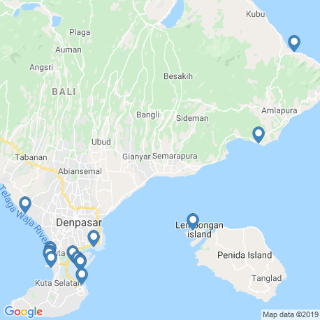 map of fishing charters in Denpasar