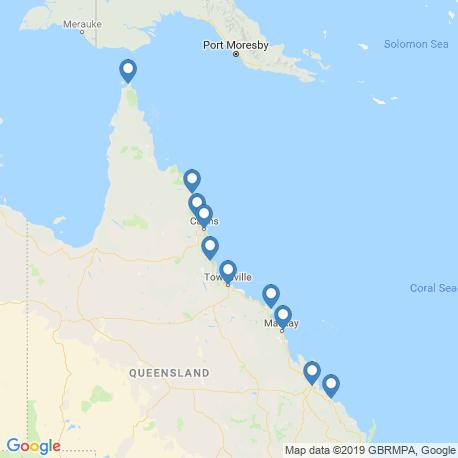 Карта чартеров – Большой Барьерный риф