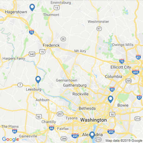 map of fishing charters in Leesburg