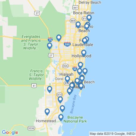 Карта рыбалки – Майами