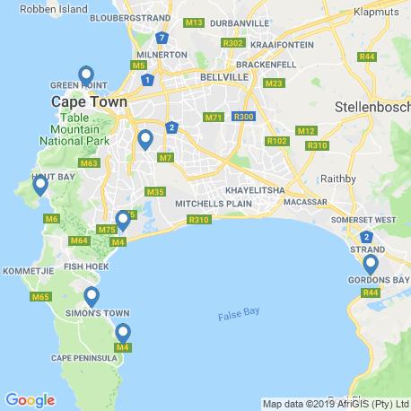 Карта рыбалки – Кейптаун