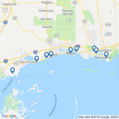 map of fishing charters in Biloxi