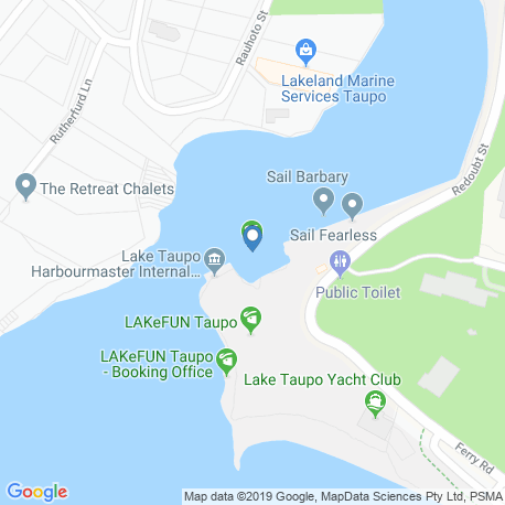 map of fishing charters in Lake Taupo