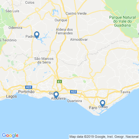 map of fishing charters in Algarve