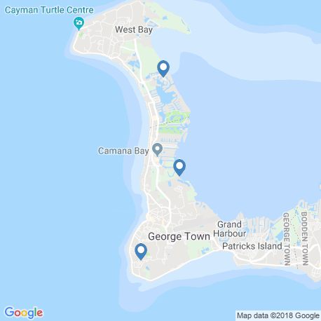 map of fishing charters in Grand Cayman