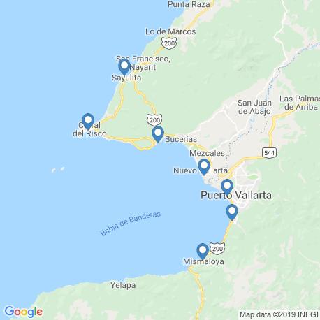 map of fishing charters in Puerto Vallarta