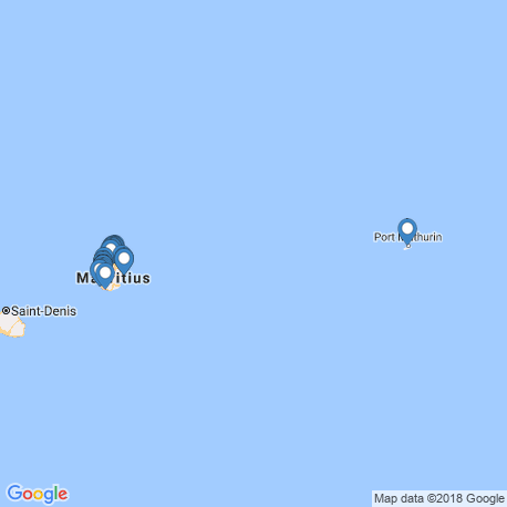 map of fishing charters in Mauritius