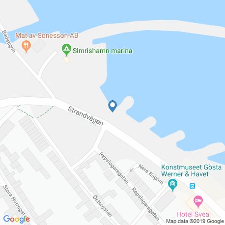 map of fishing charters in Simrishamn N